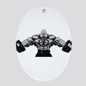 Gym Maniac Oval Ornament