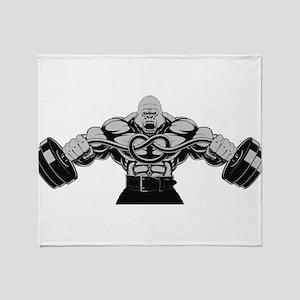 Gym Maniac Throw Blanket