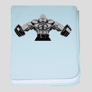 Gym Maniac baby blanket