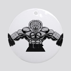 Gym Maniac Round Ornament