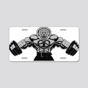 Gym Maniac Aluminum License Plate