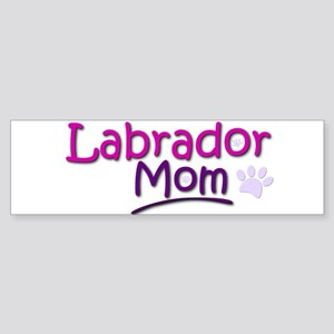 Labrador Mom Bumper Sticker
