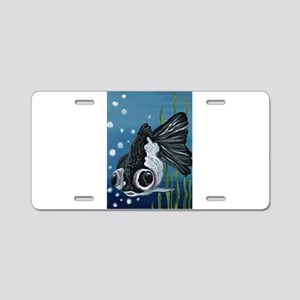 Panda Black Moor Goldfish Aluminum License Plate