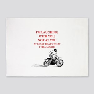 dirt bike joke 5'x7'Area Rug