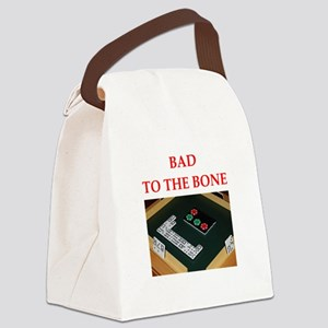 dominoes joke Canvas Lunch Bag