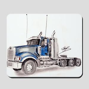 Blue Truck Mousepad
