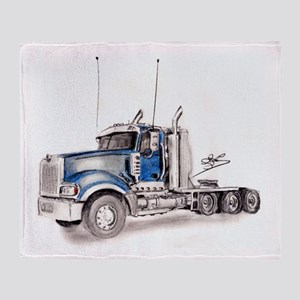Blue Truck Throw Blanket