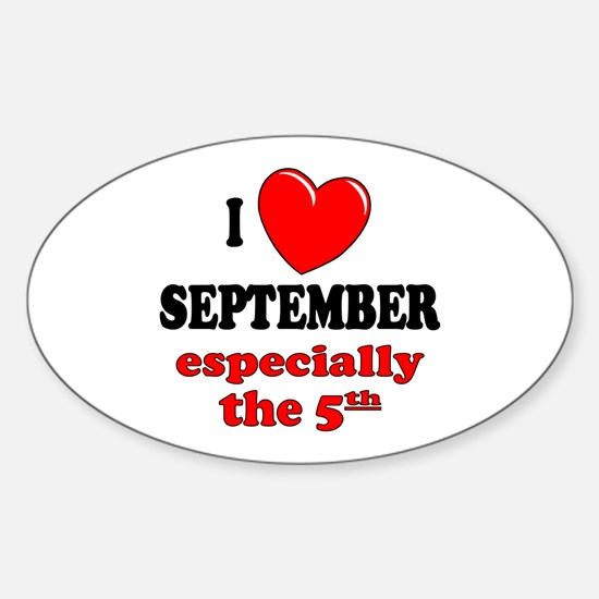 September 5th Oval Decal