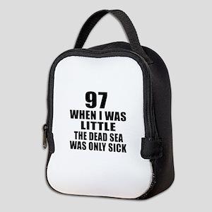 97 When I Was Little Birthday Neoprene Lunch Bag