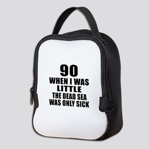 90 When I Was Little Birthday Neoprene Lunch Bag