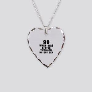 90 When I Was Little Birthday Necklace Heart Charm