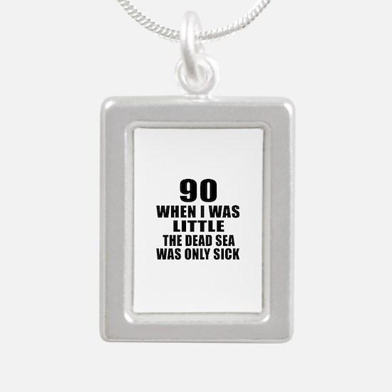 90 When I Was Little Bir Silver Portrait Necklace