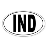 Indianapolis International Airport Oval Sticker
