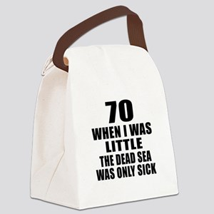 70 When I Was Little Birthday Canvas Lunch Bag