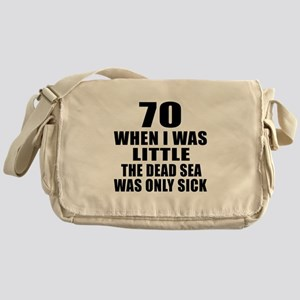 70 When I Was Little Birthday Messenger Bag