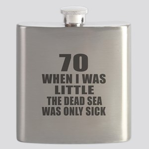 70 When I Was Little Birthday Flask