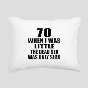 70 When I Was Little Bir Rectangular Canvas Pillow