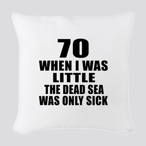 70 When I Was Little Birthday Woven Throw Pillow