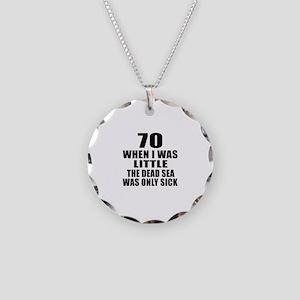 70 When I Was Little Birthda Necklace Circle Charm