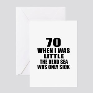 70 When I Was Little Birthday Greeting Card