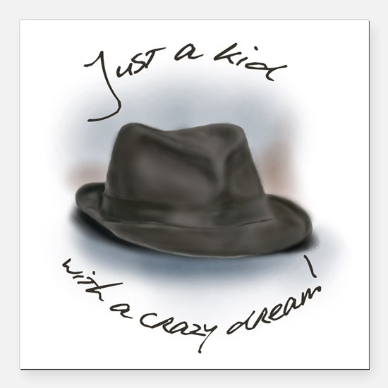 "Hat For Leonard Crazy Dream Square Car Magnet 3"" x"