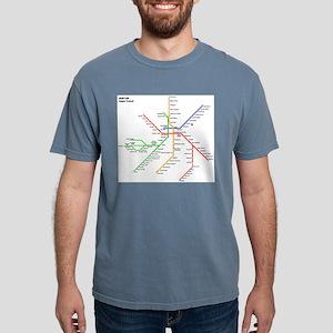 Boston Rapid Transit Map Subway Metro T-Shirt