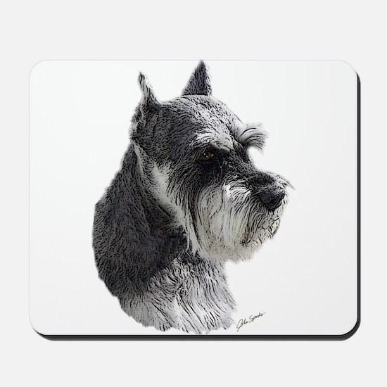 Schnauzer Portrait Art Mousepad