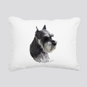 Schnauzer Portrait Art Rectangular Canvas Pillow