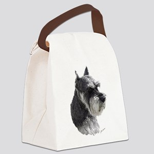 Schnauzer Portrait Art Canvas Lunch Bag
