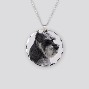 Schnauzer Portrait Art Necklace