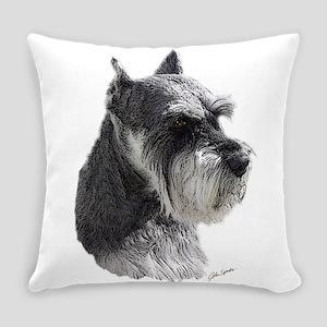 Schnauzer Portrait Art Everyday Pillow
