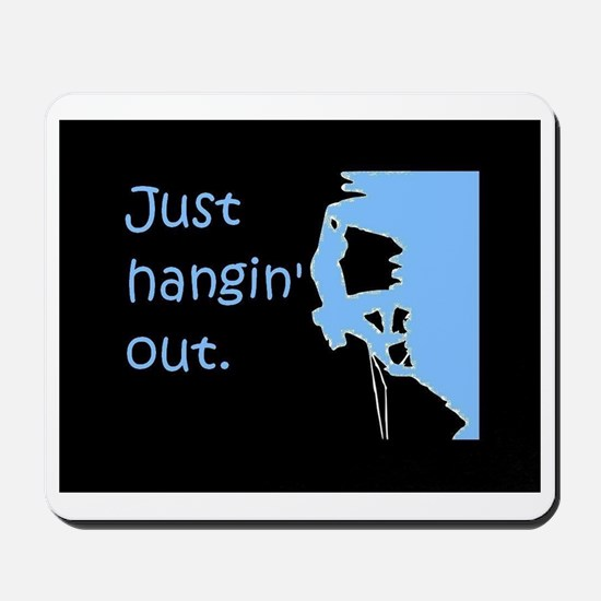 Just hangin' out - black-blue Mousepad