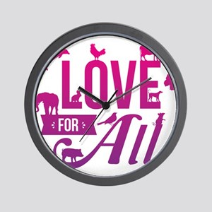 Love for All Wall Clock