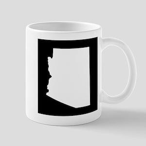 arizona white black Mug
