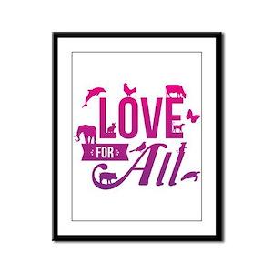 Love for All Framed Panel Print
