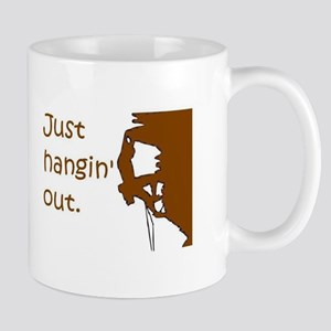 Just hangin' out - brown-white Mugs