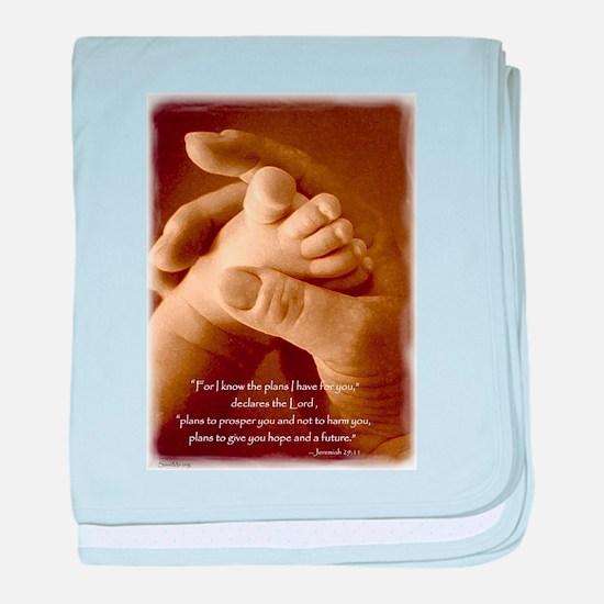 jeremiah 29 - plans for you.jpg baby blanket