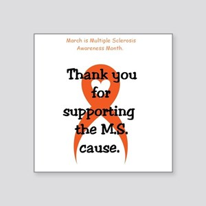 March - M.S. Awareness - Thank you Sticker