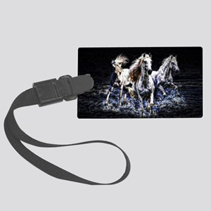 fractal horses Luggage Tag