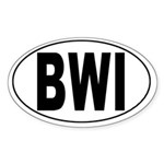 Baltimore/Washington Int'l Airport Oval Sticker