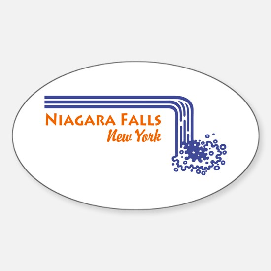 Niagara Falls New York Sticker (Oval)
