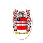 Panting Oval Car Magnet