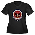 Donald Trump Women's Plus Size V-Neck Dark T-Shirt