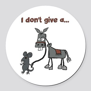 I don't give a... Round Car Magnet