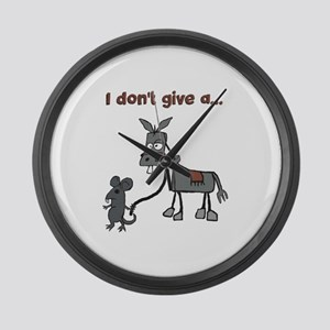 I dont give a... Large Wall Clock
