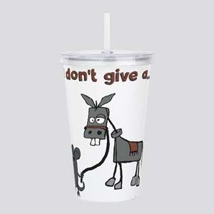 I dont give a... Acrylic Double-wall Tumbler