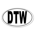 Detroit Metro Airport Oval Sticker