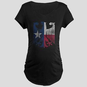 Vintage Texas German Eagle Flag Maternity T-Shirt