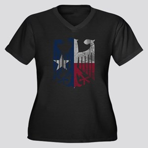 Vintage Texas German Eagle Flag Plus Size T-Shirt