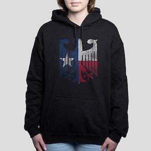 Vintage Texas German Eagle Flag Women's Hooded Swe